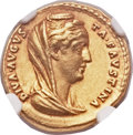 Ancients:Roman Imperial, Ancients: Diva Faustina Sr., deified wife of Antoninus Pius (died AD 141). AV aureus (20mm, 6.83 gm, 6h)....