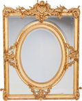 Decorative Arts, French, A Pair of French Giltwood Wall Mirror Frames, late 19th century.56-1/2 inches high x 43 inches wide (143.5 x 109.2 cm). ... (Total:2 Items)