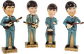 "Music Memorabilia:Memorabilia, Beatles 14"" Bobb'n Head Promo Dolls Complete Set (Car Mascots, 1964).... (Total: 4 )"