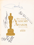 Movie/TV Memorabilia:Autographs and Signed Items, A John Wayne and Others Signed Academy Awards Program, 1969....