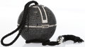 """Luxury Accessories:Bags, Judith Leiber Full Bead Black Crystal Sphere Minaudiere Evening Bag. Excellent Condition . 3.5"""" Width x 3.5"""" Height x..."""