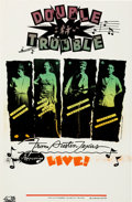 Music Memorabilia:Posters, Stevie Ray Vaughan Double Trouble Concert Poster (1979)....