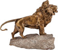 Fine Art - Sculpture, European:Antique (Pre 1900), After Robert Bousquet (French, 20th Century). Le Lion deBelfort. Bronze with goldish patina. 13 inches (33.0 cm highon...