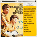 Music Memorabilia:Autographs and Signed Items, Golden Hits Of The Everly Brothers Signed LP (Warner Brothers 1471, 1962)....
