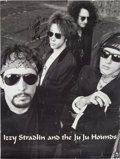 Music Memorabilia:Autographs and Signed Items, Izzy Stradlin and the JuJu Hounds Signed Poster, 1990s....