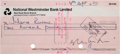 Music Memorabilia:Awards, The Beatles: Yoko Ono Lennon Signed Check....
