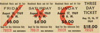 Woodstock Music and Art Fair: Unused Three Day Ticket