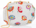 "Luxury Accessories:Accessories, Judith Leiber Full Bead Multicolor Crystal Floral MinaudiereEvening Bag. Very Good to Excellent Condition. 6"" Widthx..."
