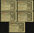 Miscellaneous:Other, Omaha, NE- Postal Note Type V 1¢ June 30, 1894 Five Examples with Return Letter and Cover.. ... (Total: 7 items)