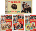 "Music Memorabilia:Memorabilia, Three English Beatles Jigsaw Puzzles, together with A Beatles ""FlipYour Wig Game"", c.1964...."