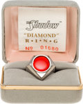 "Memorabilia:Comic-Related, The Shadow Silver ""Diamond"" Ring Limited Edition #1680/1750 (Great American Ring Club/Diamond Comics Distributors, 1994)...."