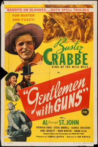 """Gentlemen with Guns & Other Lot (PRC, 1946). One Sheets (2) (27"""" X 41""""). Western. ... (Total: 2 Items)"""