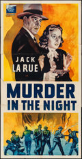 """Movie Posters:Crime, Murder in the Night (Film Alliance of the United States, 1940).Three Sheet (41"""" X 80""""). Crime.. ..."""