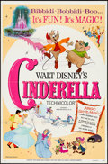 "Movie Posters:Animation, Cinderella (Buena Vista, R-1973). One Sheet (27"" X 41"") Flat Folded. Animation.. ..."
