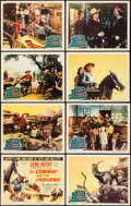 """Movie Posters:Western, The Cowboy and the Indians (Columbia, 1949). Lobby Card Set of 8 (11"""" X 14""""). Western.. ... (Total: 8 Items)"""