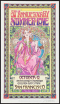 "Movie Posters:Rock and Roll, Summer of Love by Bob Masse (Council for the Summer of Love, 1997).Autographed 30th Anniversary Concert Poster (13"" X 23"")...."