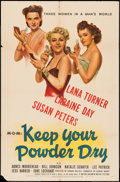 """Movie Posters:War, Keep Your Powder Dry (MGM, 1945). One Sheet (27"""" X 41""""). War.. ..."""