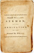 Books:Americana & American History, Joseph Willard. A Sermon, Preached May 11, 1785, at theOrdination of the Reverend Joseph McKeen, to the PastoralOffice...