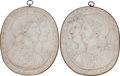Decorative Arts, Continental:Other , A Pair of Italian Neoclassical Carrera Marble Plaques, 20th century. 26 inches high x 21-1/2 inches wide (66.0 x 54.6 cm). ... (Total: 2 Items)