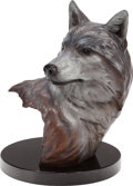 Fine Art - Sculpture, American, Rip Caswell (American, b. 1962). Tundra Shadow, 1995. Bronzewith white and black patina. 16 inches (40.6 cm) high on a ...