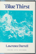 Books:Fiction, Lawrence Durrell. SIGNED/LIMITED. Blue Thirst. SantaBarbara: Capra Press, 1975....