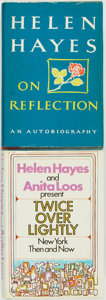 Books:Biography & Memoir, Helen Hayes. Pair of SIGNED First Editions. Includes: On Reflection. New York: M. Evans Company, [1968]. [and:] ... (Total: 2 Items)