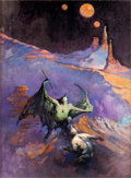 Original Comic Art:Covers, Frank Frazetta The Amsirs and the Iron Thorn Painted BookCover Original Art (Fawcett, 1967)....
