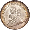 """South Africa, South Africa: Republic """"Single Shaft"""" 5 Shillings 1892 MS64 NGC,..."""