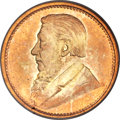 """South Africa, South Africa: Republic gold Pattern """"Tickey"""" 3 Pence 1898 MS63PCGS,..."""