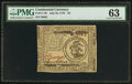 Colonial Notes:Continental Congress Issues, Continental Currency July 22, 1776 $3 PMG Choice Uncirculated 63.....