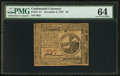Colonial Notes:Continental Congress Issues, Continental Currency November 2, 1776 $2 PMG Choice Uncirculated64.. ...
