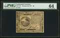 Colonial Notes:Continental Congress Issues, Continental Currency February 26, 1777 $6 PMG Choice Uncirculated64.. ...