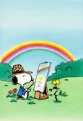 Original Comic Art:Miscellaneous, Art Ellis Snoopy's Book of Colors Cover Production Art WithWatercolor Background (Golden Books, 1987)....
