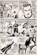 Original Comic Art:Panel Pages, John Buscema and George Roussos Avengers #42 Page 3 ScarletWitch and Quicksilver Original Art (Marvel, 1967)....