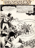 Original Comic Art:Splash Pages, Dick Dillin and Chuck Cuidera Blackhawk #173 Splash Page 1Original Art (DC, 1962)....