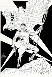 Dave Stevens Rocketeer: The Official Movie Adaptation #1 Cover Original Art (Disney, 1991)