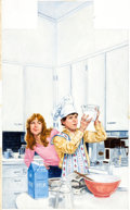 Original Comic Art:Covers, Richard Williams Encyclopedia Brown Takes the Cake PaintedCover Original Art (Scholastic Books, 1991)...