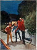 Original Comic Art:Covers, Richard Williams Encyclopedia Brown Shows the Way PaintedCover Original Art (Scholastic Books, c. 199...