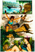 Original Comic Art:Panel Pages, Joe Jusko Tomb Raider: The Greatest Treasure of All Prelude#1 Page 5 Original Art (Top Cow/Image, 2002). ...