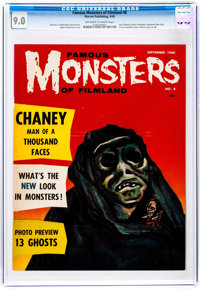 Famous Monsters of Filmland #8 (Warren, 1960) CGC VF/NM 9.0 Off-white to white pages