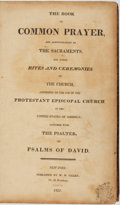 Books:Religion & Theology, [Religion & Theology]. The Book of Common Prayer and Administration of the Sacraments... New York: W. B. Gilley,...