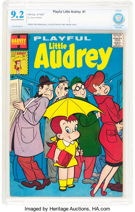 Playful Little Audrey #1 (Harvey, 1957) CBCS NM- 9.2 Cream to off-white pages....