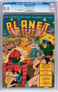 Golden Age (1938-1955):Science Fiction, Planet Comics #8 (Fiction House, 1940) CGC VF+ 8.5 Light tan tooff-white pages....