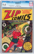 Golden Age (1938-1955):Superhero, Zip Comics #2 (MLJ, 1940) CGC VF/NM 9.0 Off-white pages....