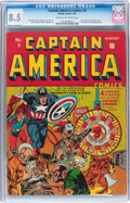 Golden Age (1938-1955):Superhero, Captain America Comics #5 (Timely, 1941) CGC VF+ 8.5 Cream to off-white pages....
