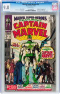 Silver Age (1956-1969):Superhero, Marvel Super-Heroes #12 Captain Marvel (Marvel, 1967) CGC NM/MT 9.8Off-white pages....
