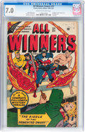Golden Age (1938-1955):Superhero, All Winners Comics #21 (Timely, 1947) CGC FN/VF 7.0 Cream to off-white pages....