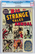 Silver Age (1956-1969):Superhero, Strange Tales Annual #1 (Marvel, 1962) CGC NM- 9.2 Off-white to white pages....