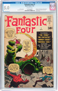 Silver Age (1956-1969):Superhero, Fantastic Four #1 (Marvel, 1961) CGC VG/FN 5.0 Off-white pages....