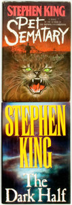 Books:Horror & Supernatural, Stephen King. Pair of First Editions. Titles include: Pet Sematary. New York: Doubleday and Company, 1983. [and:... (Total: 2 Items)